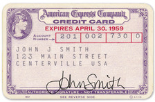 first American Express credit card.