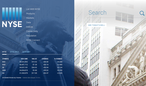 New York Stock Exchange site home-page