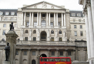 Bank of England building in City of London
