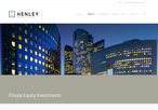 Henley Private Equity Investments website picture